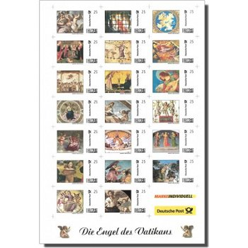 Angel of the Vatican - sheetlet, stamp individual