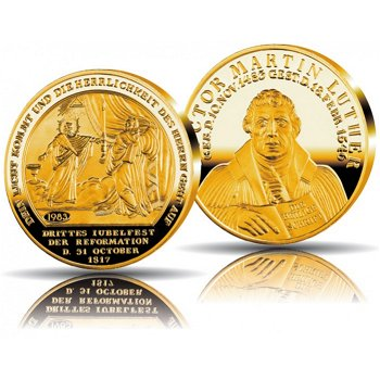 500 Jahre Reformation, Jubiläumsprägung in Gold