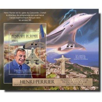 Tod von Henri Perrier – Briefmarken-Block postfrisch, Katalog-Nr. 9363, Block 2129, Guinea