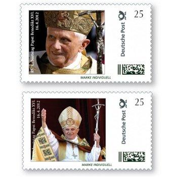 Papst Benedikt XVI. - 85 Geburtstag, 2 Marken Individuell