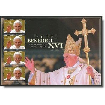 5 Jahre Pontifikat Papst Benedikt XVI. - Briefmarken-Block postfrisch, Micronesien
