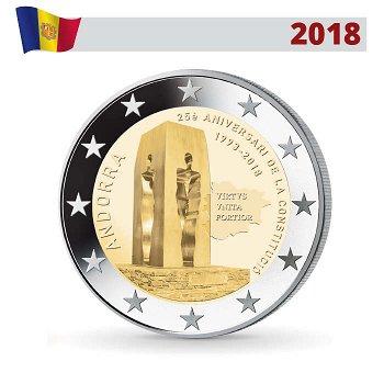 25 Jahre Verfassung, 2 Euro Gedenkmünze 2018, Andorra
