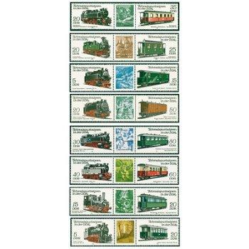 Schmalspurbahnen der DDR - Eisenbahn-Briefmarken postfrisch, DDR