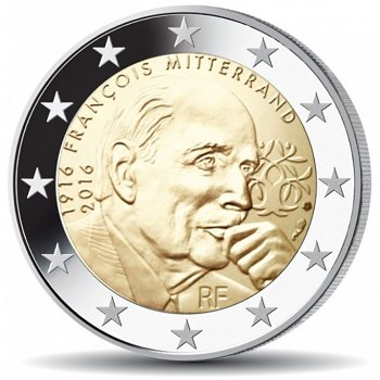 Francois Mitterand, 2 Euro Münze 2016, Frankreich