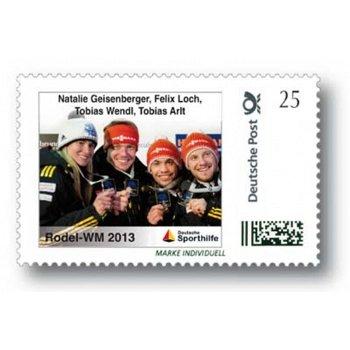 Rodel-WM 2013 Teamstaffel - Marke Individuell postfrisch, Deutschland