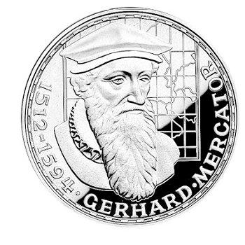 "5-DM-Silbermünze ""375. Todestag Gerhard Mercator"", Stempelglanz"