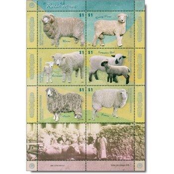 Schafrassen - Briefmarken-Block postfrisch, Argentinien
