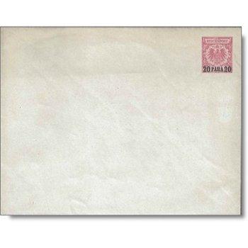 German Post of Turkey - rare postal stationery from 1889, catalog no. U 1 B, mint never hinged
