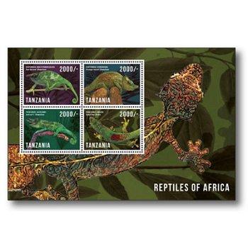 Reptilien - Briefmarken-Block postfrisch, Tansania