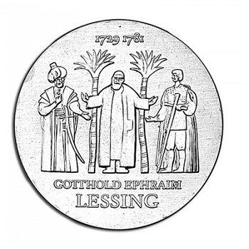 250. Geburtstag Gotthold Ephraim Lessing, 20 Mark Münze 1979, DDR