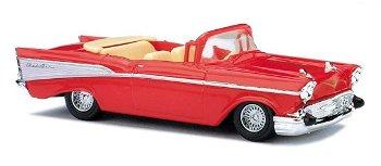 Modellauto:Chevrolet Bel Air Cabriolet von 1957, rot(Busch, 1:87)