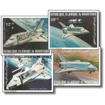 Erster Flug des Raumtransporters Space Shuttle - 4 Briefmarken ungezähnt postfrisch, Katalog-Nr. 715
