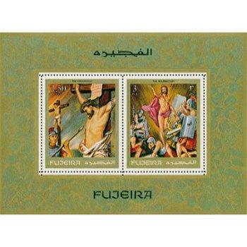Die Kreuzigung - Briefmarken-Block postfrisch, Fujeira