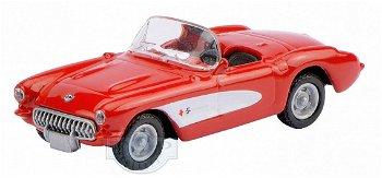 Modellauto:Chevrolet Corvette C1, rot(Schuco, 1:87)