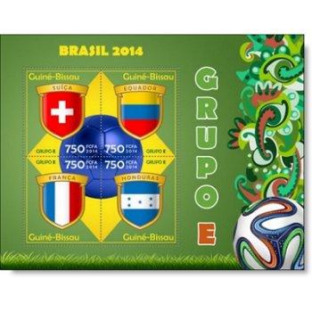Fußball-Weltmeisterschaft, Gruppe E- Briefmarken-Block postfrisch, Guinea-Bissau