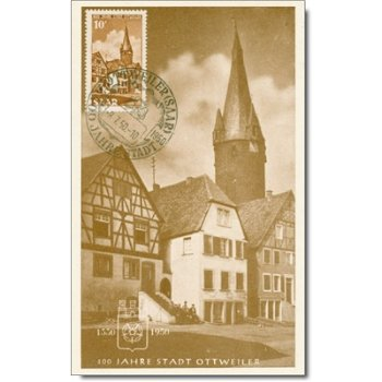 The historic old town of Ottenweiler - maximum card