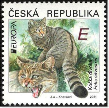 Europa 2021: Gefährdete nationale Tierwelt - Briefmarke postfrisch, Tschechische Republik