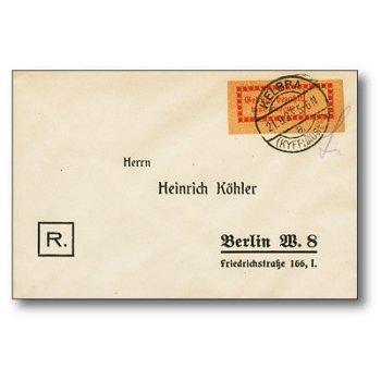 Halle an der Saale - Brief gestempelt, Katalog-Nr. 1 Ia