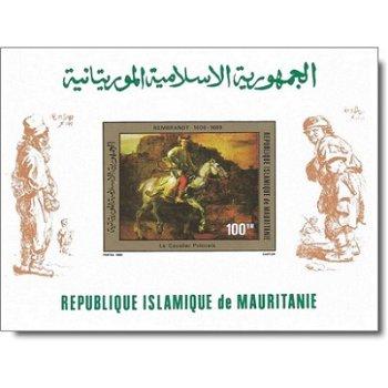 Rembrandt-Gemälde - Briefmarken-Block ungezähnt postfrisch, Katalog-Nr. 690 Bl. 28B, Mauretanien