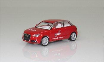 Modellauto:Audi A1- Nürnberger Spielwarenmesse 2013 -(Herpa, 1:87)