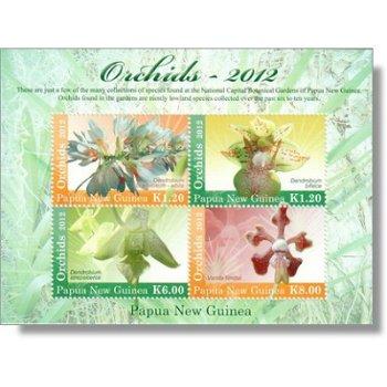 Orchideen - Briefmarken-Block postfrisch, Katalog-Nr. 1819-1822, Papua-Neuguinea
