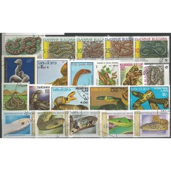 Snakes - 50 different stamps