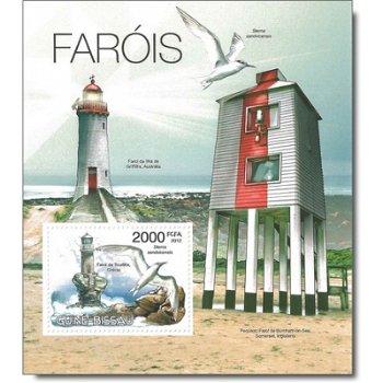 Seevögel und Leuchttürme - Briefmarken-Block postfrisch, Katalog-Nr. 5856 Bl.1033, Guinea-Bissau