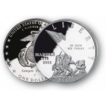 Marine Corps - Silberdollar 2005, 1 Dollar Silbermünze, USA