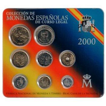 Kursmünzensatz 2000, König Juan Carlos - Spanien