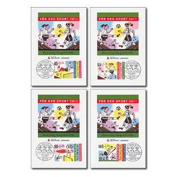 Für den Sport 2011 - 4 Maximumkarten, Kat.-Nr. 2857-2860, Deutschland