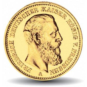 10 Mark Goldmünze, Friedrich III., Katalog-Nr. 247, Königreich Preußen