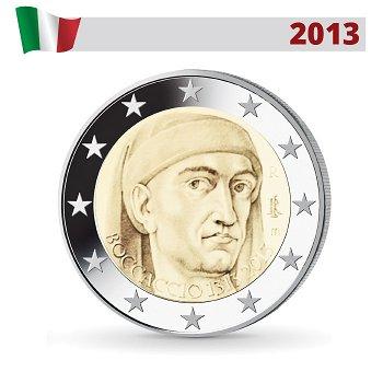 700. Geburtstag von Giovanni Boccaccio, 2 Euro Münze 2013, Italien