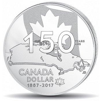 150. Jahrestag von Canada, 1 Dollar Silbermünze, polierte Platte, Canada
