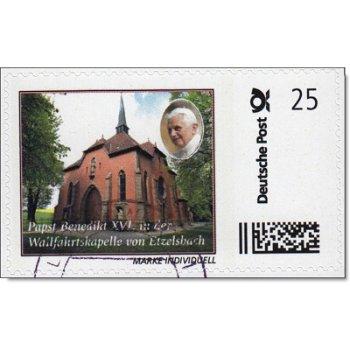 Papst Benedikt XVI. in Etzelsbach - Marke Individuell gestempelt