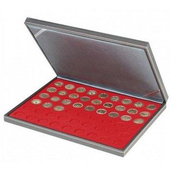 Nera Münzkassette M für 2 Euro Münzen, Münzeinlage rot, Lindner 2364- 2154E