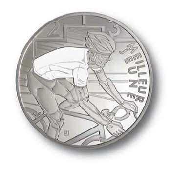 10-Euro-Silbermünze 100. Tour de France - Weißes Trikot, Frankreich