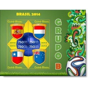 Fußball-Weltmeisterschaft, Gruppe B - Briefmarken-Block postfrisch, Guinea-Bissau