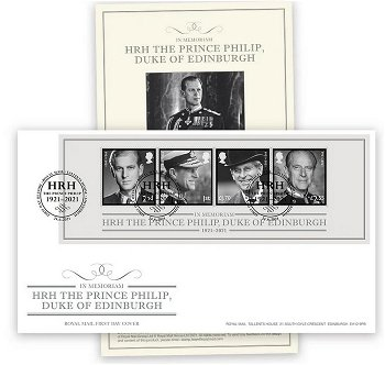 Zur Erinnerung an Prinz Philip - Ersttagsbrief, Großbritannien