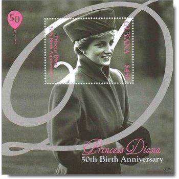 Prinzessin Diana - Briefmarken-Block postfrisch, Guyana