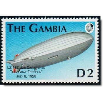 75. Todestag von Ferdinand Graf von Zeppelin - Briefmarke postfrisch, Katalog-Nr. 1461, Gambia