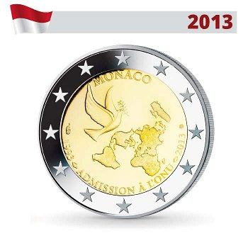 2 Euro Münze 2013, 20 Jahre Vereinte Nationen, Monaco