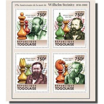 Wilhelm Steinitz / Schach - Briefmarken-Block, Togo
