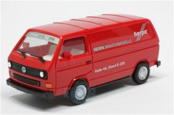 Modellauto:VW T3 Bus- Spielwarenmesse Nürnberg 2014 -(Herpa, 1:87)