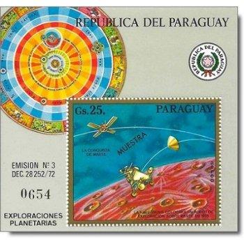 """Erforschung des Mars, mit Aufdruck """"MUESTRA"""" - Briefmarken-Block postfrisch, Katalog-Nr. 2"""