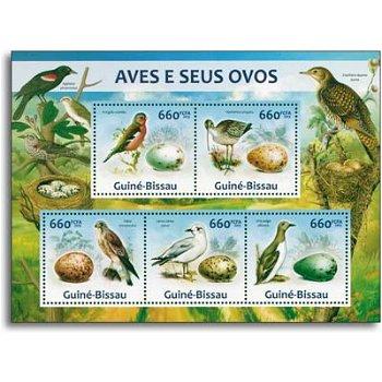 Vögel - Briefmarken-Block postfrisch, Guinea-Bissau