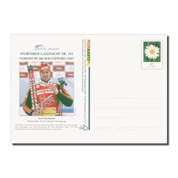 Sporthilfe, Axel Teichmann - Ganzsache Nr. 145 postfrisch, Deutschland