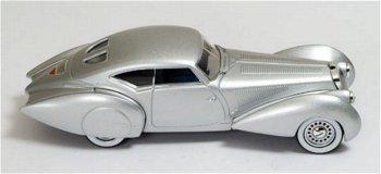 Modellauto:Delage D8 120-S Pourtout Aero Coupévon 1937, silber(IXO Museum, 1:43)