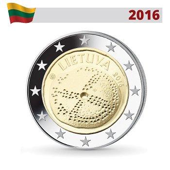 Baltische Kultur, 2 Euro Münze 2016, Litauen