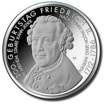 Friedrich der Große, 10-Euro-Münze 2012, Stempelglanz