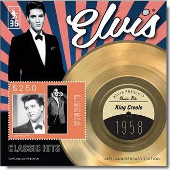"""Elvis Presley """"King Creole"""" - Briefmarken-Block postfrisch, Liberia"""